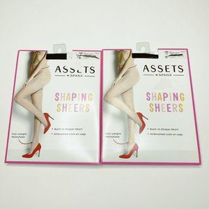 Assets by Spanx Shaping Sheers Black Lot of 32